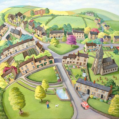 Parwich (Derbyshire) Acrylic on canvas