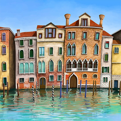 Venice Reflections  limited edition print