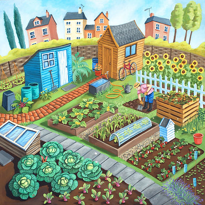 Allotment Love - limited edition print