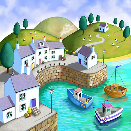 Dreams of the Seaside - large and small print