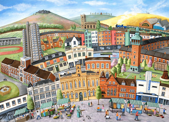 Loughborough Townscape - limited edition prints in three sizes