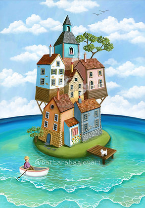 My own little island reproduction prints A2, A3+ sizes