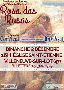 Affiche rosa das rosas Villeneuve sur Lo