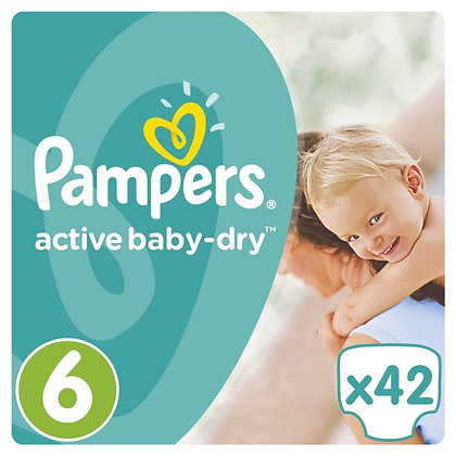 PAMPERS ACTIVE BABY DRY ΜΕΓ 6 1x42 JUMBO