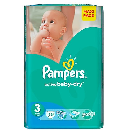 PAMPERS VALUE PACK PLUS MIDI 68pcs