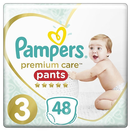 PAMPERS PREMIUM PANTS ΜΕΓ 3 2X48 17,00 134,05  JUMBO ST