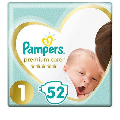 PAMPERS PREMIUM CARE NEWBORN 2X52 VP
