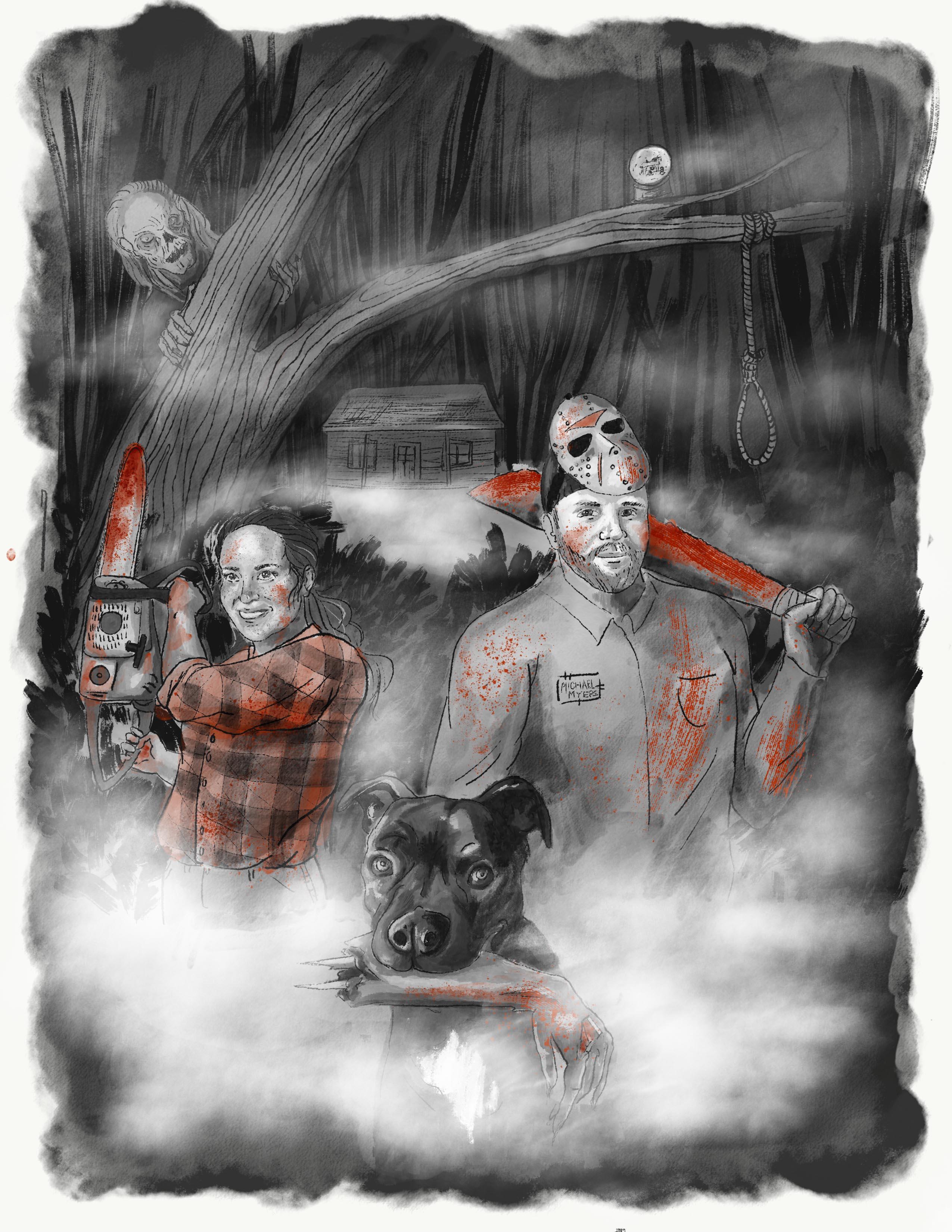 Horror Movie Couple