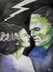 Frankstein and Bride