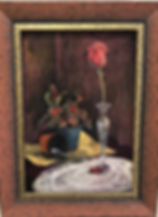 Legacy-19x13-pastel-Lindy-Cook-Severns-still life rose and caladium