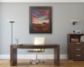 Sundance framed 38x32 Lindy Cook Severns