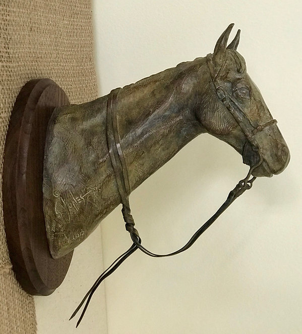 Portrait of a Mare, a Stephen G Jones bronze sculpture