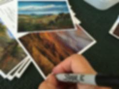 Artist Lindy Severns signs each fine art notecard