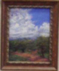 landscape painting Summertime 24x18 pastel Lindy Cook Severns framed