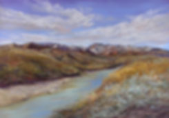 Snowy-Peaks-on-the-Rio-Grande painting