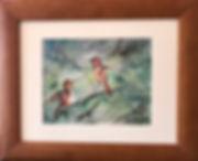 hummingbird watercolor framed