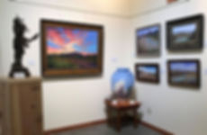 Lindy Cook Severns landscape paintings, oils and pastels at Old Spanish Trail Gallery and Museum outside Ft Davis TX