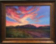 Sunsets-Mt-Majesty-30x40-oil-Lindy-Cook-Severns landscape painting framed