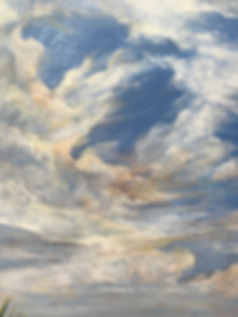 cloud texture detail in oil painting by Lindy Cook Severns