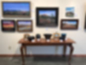 Original landscape paintings by Lindy Cook Severns hang at Old Spanish Trail Gallery and Museum, Fort Davis Texas