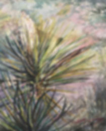 Flowering yucca watercolor by Lindy Cook Severns