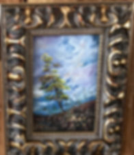 Framed in gold, Century-Bloom-6x4-pastel-Lindy-Cook-Severns art