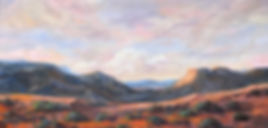 southwest landscapes and shadows in desert oil painting Margaret Heath