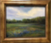 Texas-Blues-bluebonnet-pastel landscape Lindy-Cook-Severns