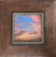 Desert Sunset oil painting framed