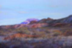 Chisos mountains at sunset desert southwest landscape painting Lindy Cook Severns art