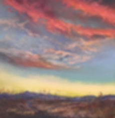 desert sunset skyscape painting