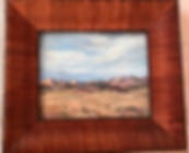 framed pastel landscape painting mountains in shadow Lindy Cook Severns art