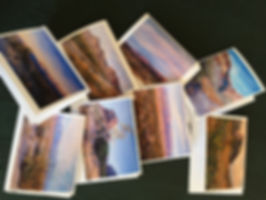 Big Bend Artist notecards from landscape paintings by Lindy Severns are available at select gift shops
