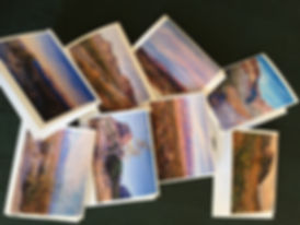 Lindy Cook Severns Notecards Lined Up as Mini Art