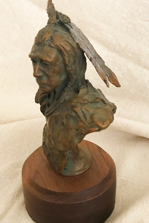 Big Foot, bust of Indian chieftain by Stephen G Jones