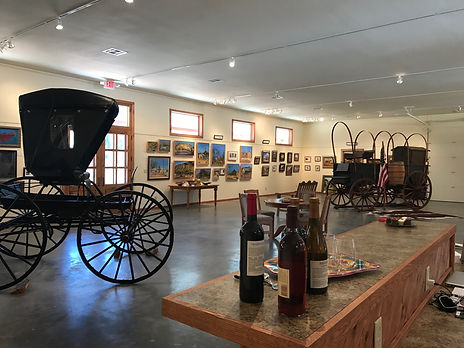 buggy in art gallery wittth wine old spanish trail gallery and museum