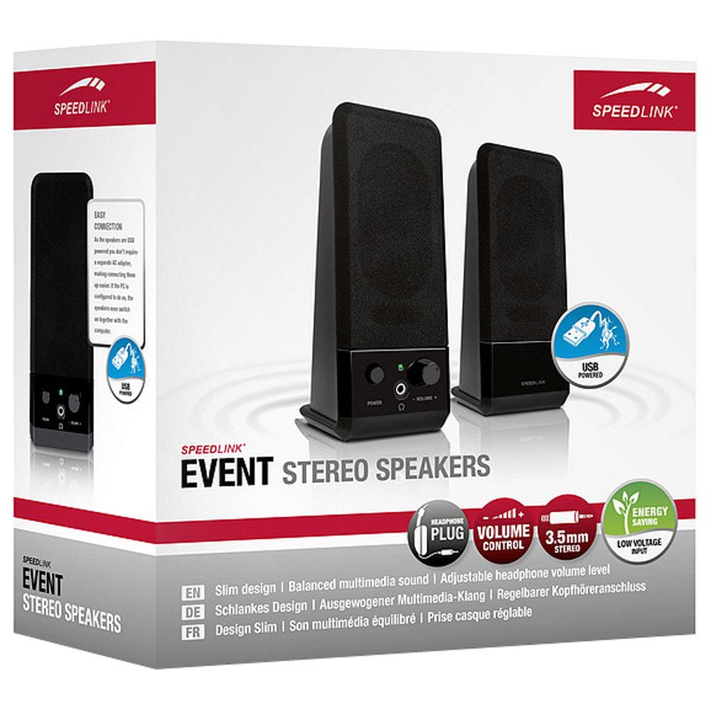 Slim-line USB 2 0 Powered Stereo Speakers