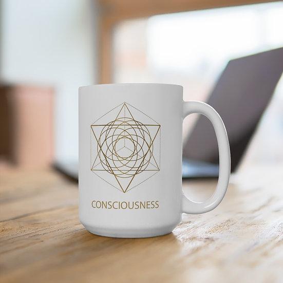 Golden Consciousness Ceramic Mug 15oz