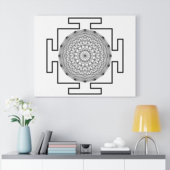 White Ifa Yantra Meditation on Canvas