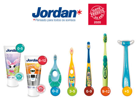 Produto do Ano 2020: Jordan Portugal premiada na área de Higiene Oral Infantil