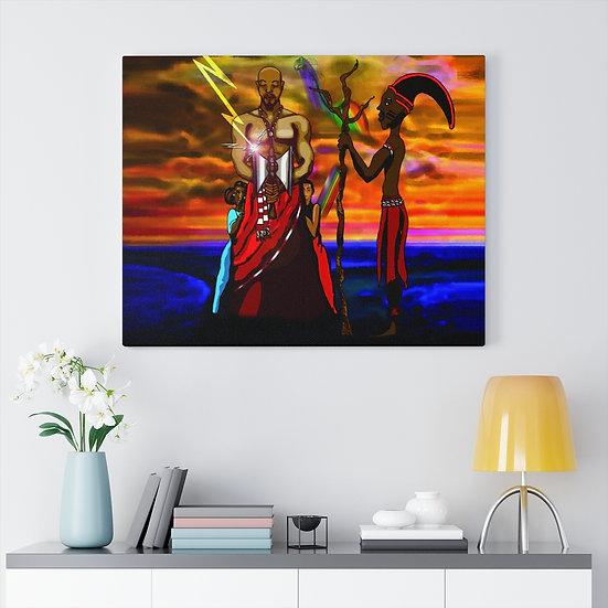 Divine Equilibrium on Canvas