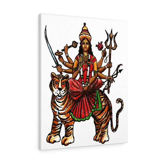 Durga Meditation Canvas