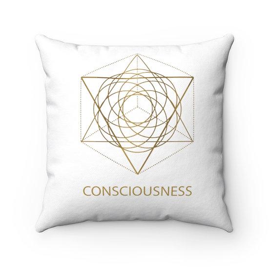 Golden Consciousness Square Pillow