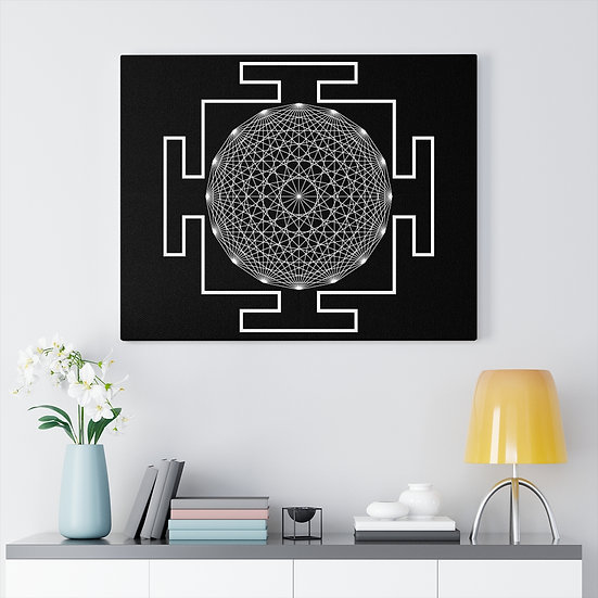 Black Ifa Yantra Meditation on Canvas