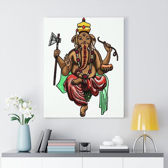 Ganesha Meditation Canvas
