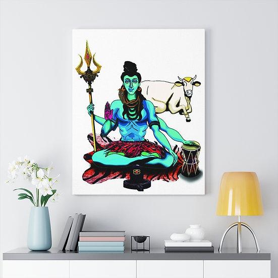 Lord Shiva Meditation Canvas