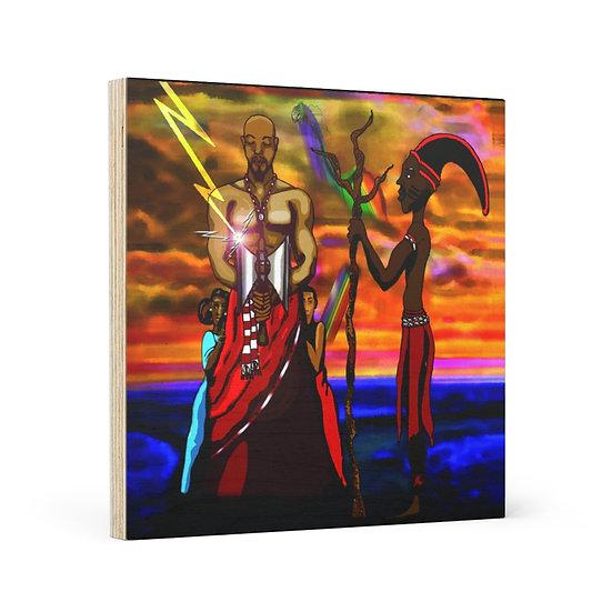 Divine Equilibrium Wooden Canvas
