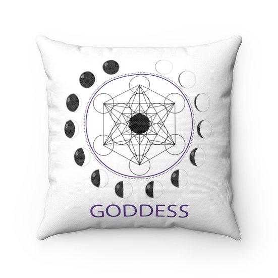 Goddess Moon Cycle Square Pillow