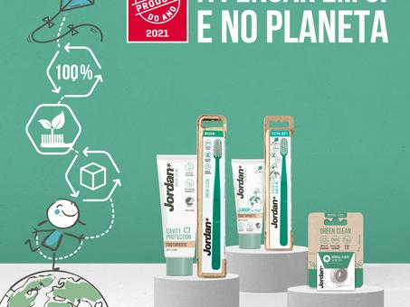 Jordan Green Clean foi premiado com o Produto do Ano Portugal 2021 na higiene oral sustentável