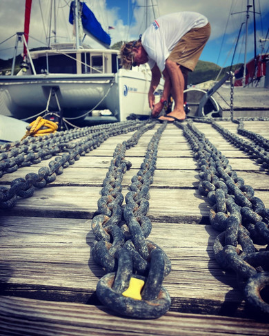 Anchor Chain Inspection / Marking Lengths